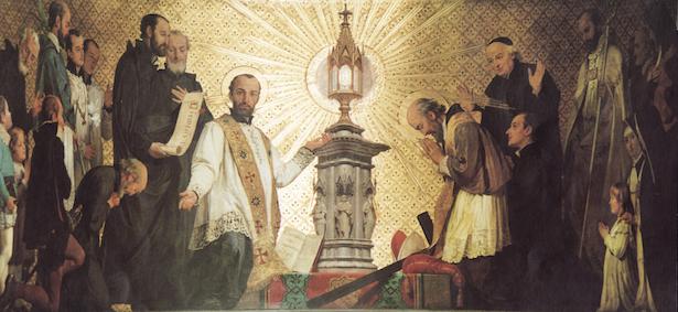 La Eucaristía.